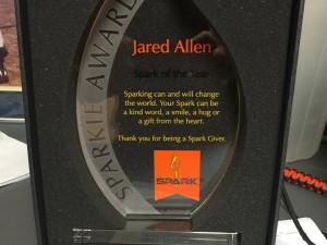 Jared Allen Wins Sparkie Award