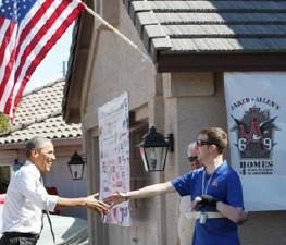 President Barack Obama Pays a Visit to SFC Cory Remsburg During Home Key Presentation