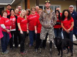 Wells Fargo Volunteers Join JAH4WW for Home Build